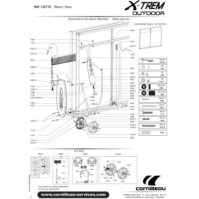 TABLE X-TREM BLEUE