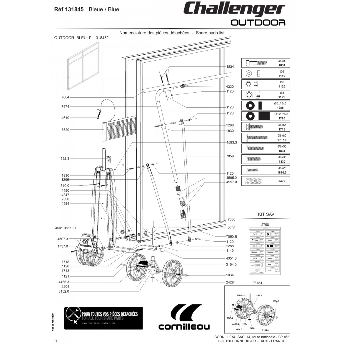 Table CHALLENGER Outdoor